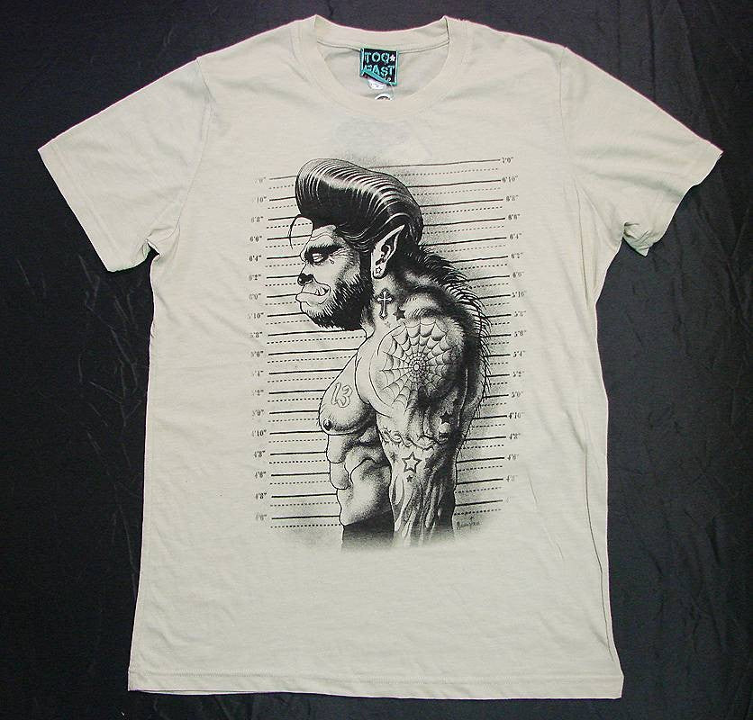 Men's White T-Shirt Wolfman Another Way of Life
