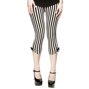 Capri Vertical Striped Leggings - Another Way of Life