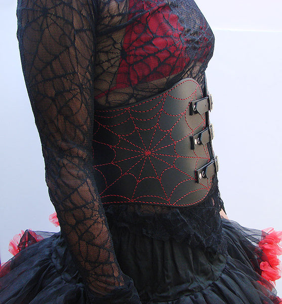 Red Spider web belt Another Way of Life