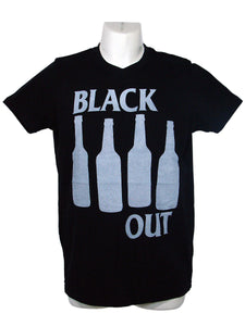 Men's Black T-Shirt Black Out