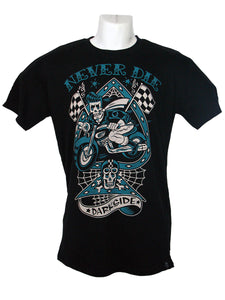 Men's Black T-Shirt Motorbike