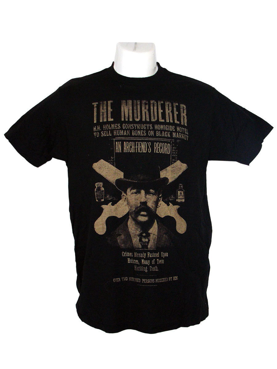 Men's Black T-Shirt Murderer