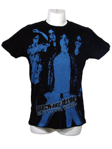 Men's Black T-Shirt Search And Destroy Iggy and The Stooges