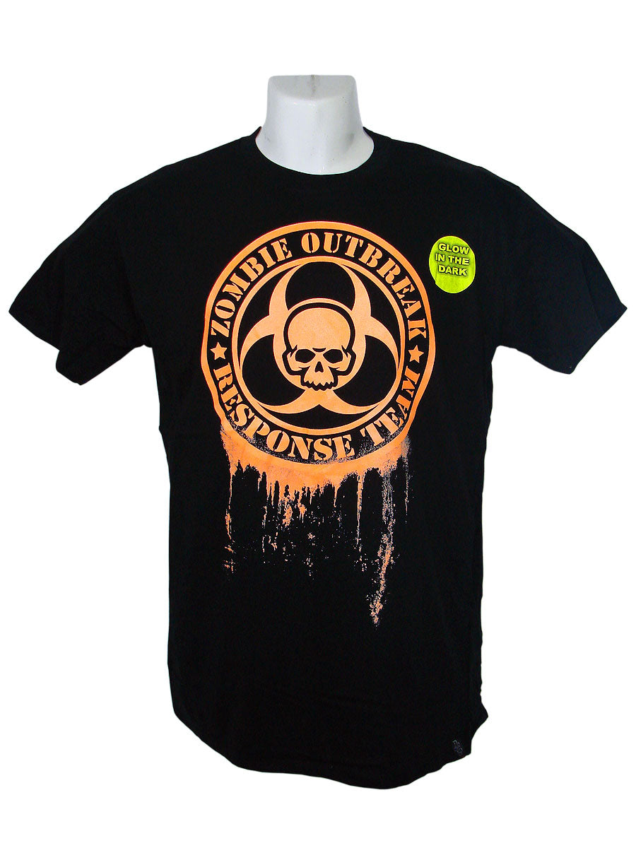 Men's Black T-Shirt Zombie Response Team