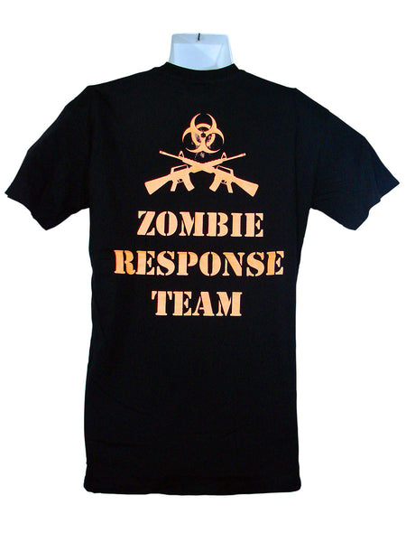 Men's Black T-Shirt Zombie Response Team 1