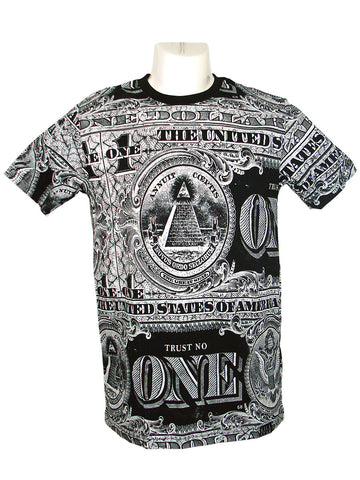 Men's White Dollar T-Shirt