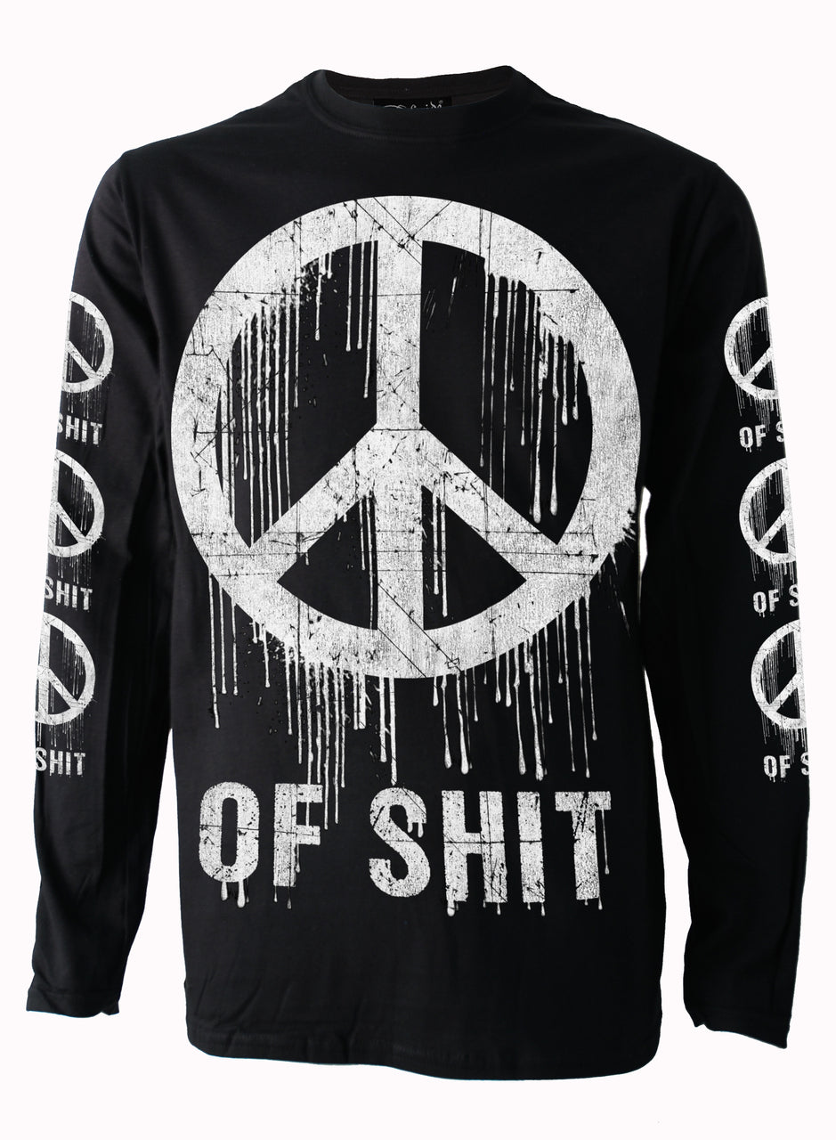 Peace of Shit Mens Long Sleeve T Shirt By DarksiddeAnother Way of Life