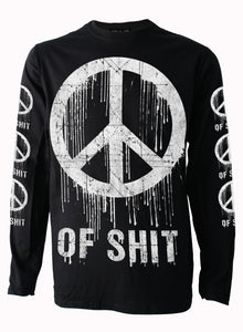 Peace of Shit Mens Long Sleeve T Shirt By Darksidde
