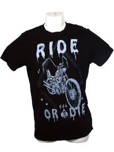 Men's Black T-Shirt Ride or Die