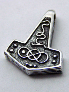 Gothic Thor hammer Pendant in Sterling silver - Another Way of Life