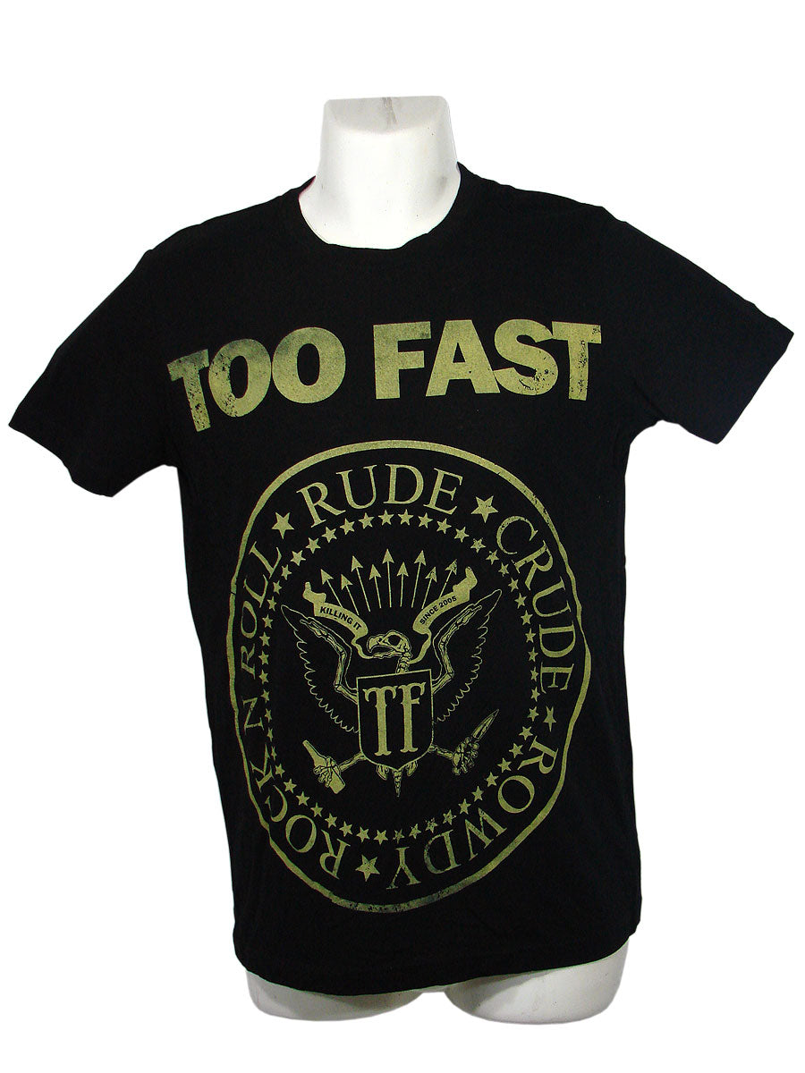 Men's Black T-Shirt Too Fast