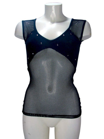 Get a Life V-neck Fishnet Top By lip Service