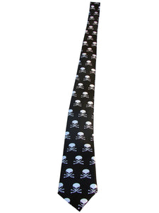 Black tie skull with bones another way of life
