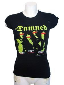 The Damned Womens Black T-Shirt By Sourpuss