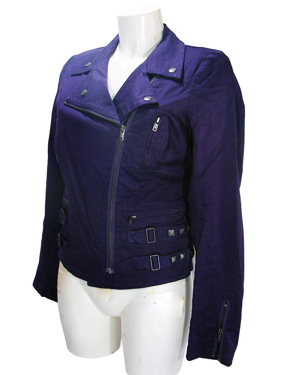 Purple Woman's Punk Rock Denim Jacket by Tripp NYC