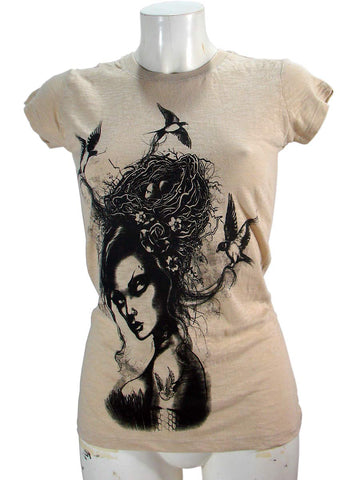 T-shirt Burnout Cream Women's Brandages By Too Fast