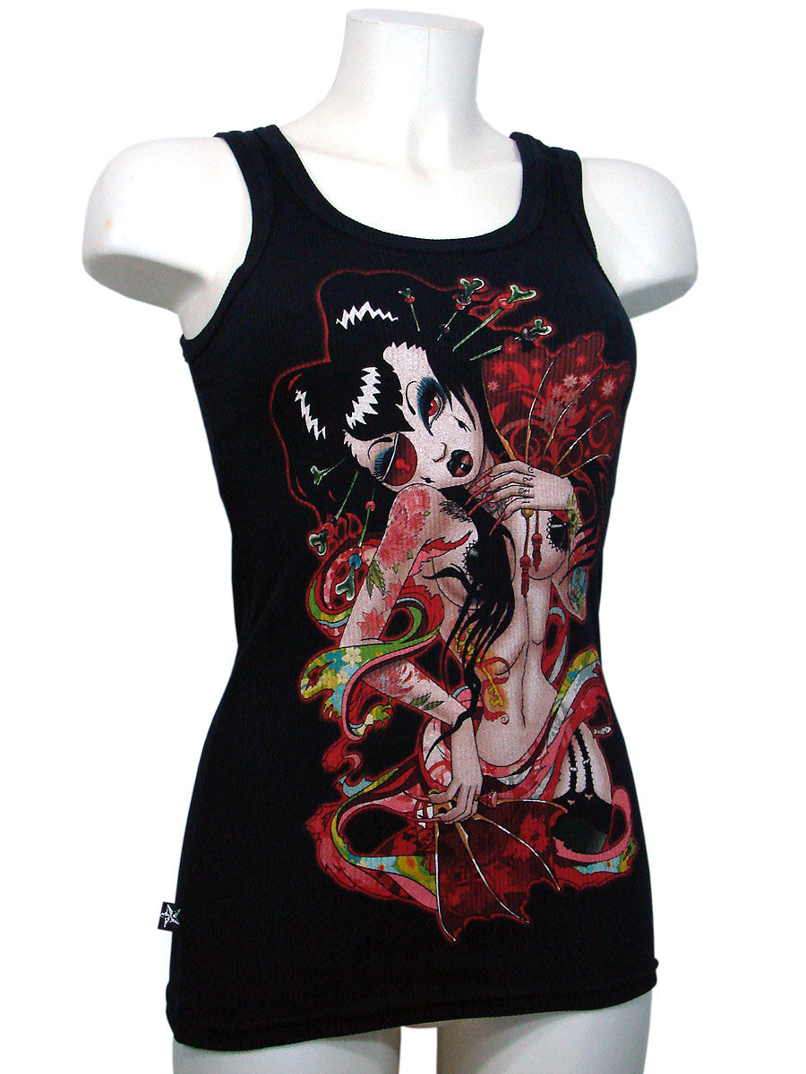 Woman's T-Shirt Tank Top Gueisha Beater