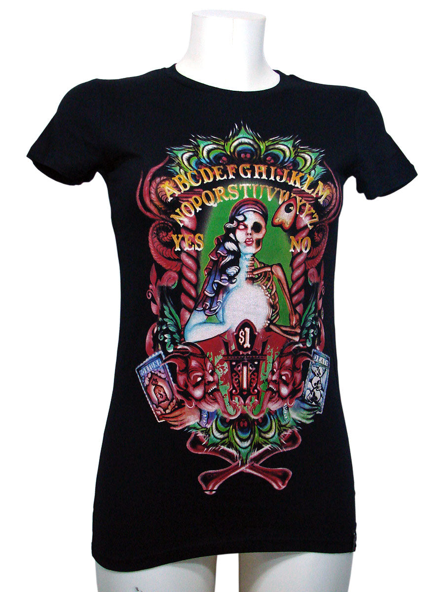 Women's Black T-shirt Fortune Teller