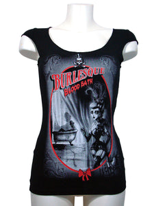 Women's Black T-shirt Burleska Blood Bath