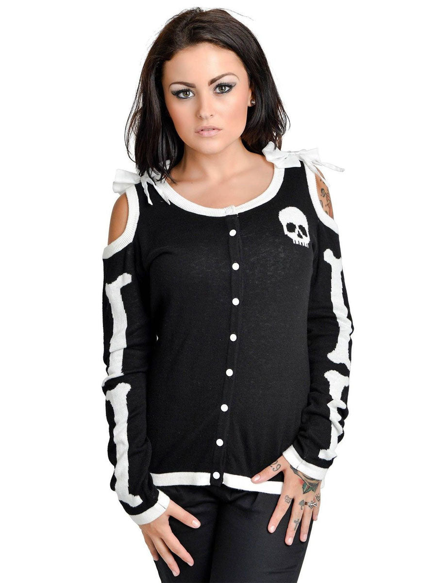 Heart Bones Skeleton Cardigan by Too Fast - Another Way of Life