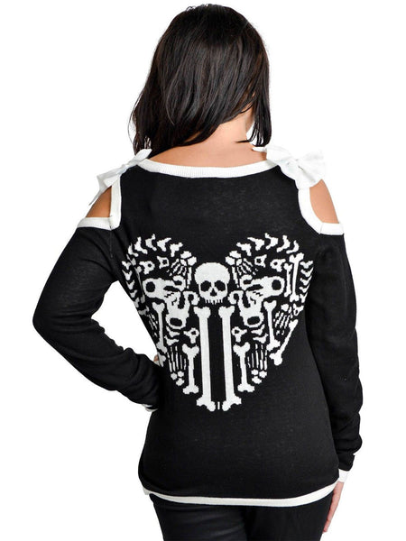 Heart Bones Skeleton Cardigan by Too Fast - Another Way of Life 2