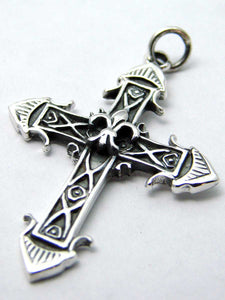925 Sterling silver pendant cross with lilyAnother Way of Life