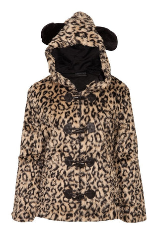 Leopard Fur Jacket by Jawbreaker