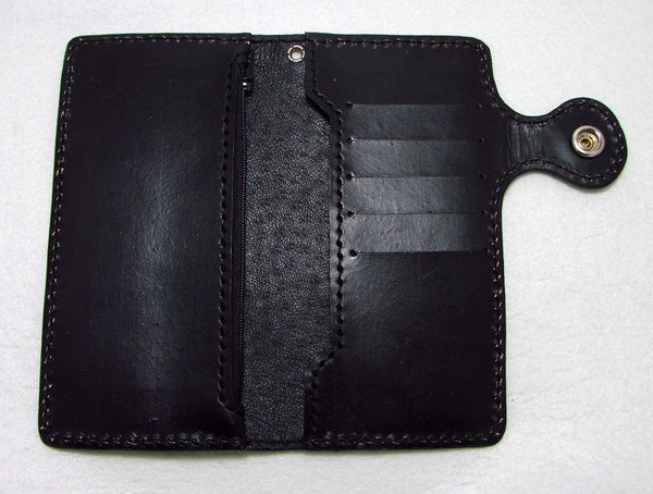 Cow leather wallet style biker with old school carp 3