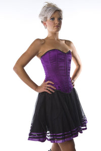 Burleska Devine overbust corset purple satinAnother Way of Life