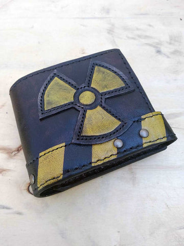 Radioactive Leather Man's Wallet Another Way of Life