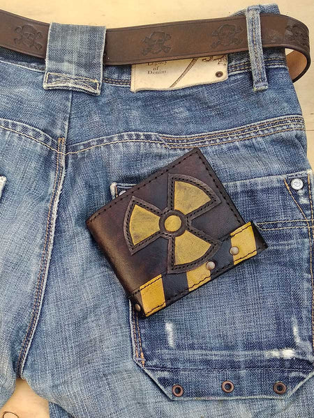 Radioactive Leather Man's Wallet