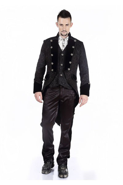 Pentagramme Black Gothic Brocade Men's Victorian CoatAnother Way of Life