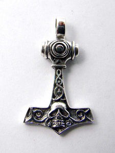 Thor hammer with skull 925 sterling silver pendantAnother Way of Life