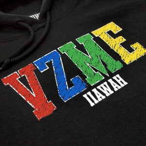 "Vizume ""Coloring Book"" Hooded Pullover - Black"