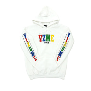 "Vizume ""Coloring Book"" Hooded Pullover – White"