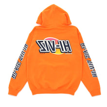 "Load image into Gallery viewer, Vizume ""HI-VIZ"" Hooded Pullover – Orange"