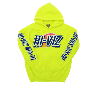 "Vizume ""HI-VIZ"" Hooded Pullover - Yellow"