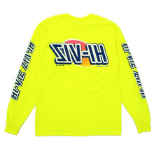 "Load image into Gallery viewer, Vizume ""HI-VIZ"" Longsleeve Tee - Yellow"