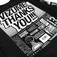"Load image into Gallery viewer, Vizume ""Thank You"" Longsleeve Tee - Black"
