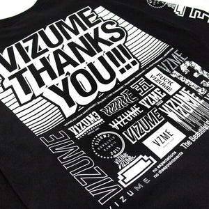 "Vizume ""Thank You"" Longsleeve Tee - Black"