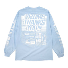 "Load image into Gallery viewer, Vizume "" Thank You "" Longsleeve Tee - Light Blue"