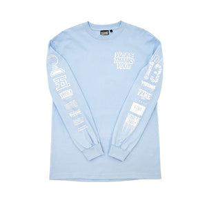 "Vizume "" Thank You "" Longsleeve Tee - Light Blue"