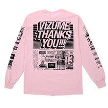 "Load image into Gallery viewer, Vizume ""Thank You"" Longsleeve Tee - Pink"