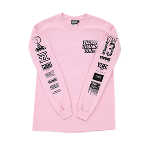 "Vizume ""Thank You"" Longsleeve Tee - Pink"