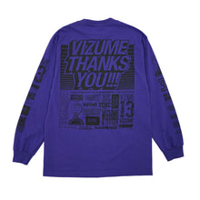 "Load image into Gallery viewer, Vizume ""Thank You"" Longsleeve Tee - Purple"