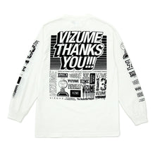 "Load image into Gallery viewer, Vizume ""Thank You"" Longsleeve Tee - White"