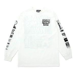 "Vizume ""Thank You"" Longsleeve Tee - White"