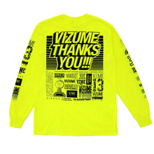 "Load image into Gallery viewer, Vizume ""Thank You"" Longsleeve Tee - Yellow"