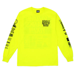 "Vizume ""Thank You"" Longsleeve Tee - Yellow"