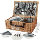 Willow Picnic Hamper Picnic for 4 Person Wicker Picnic Basket with Cooler - INNO STAGE